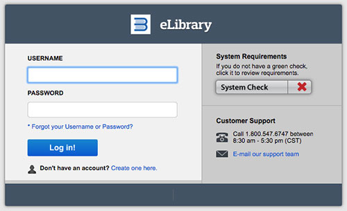 eLibrary Login